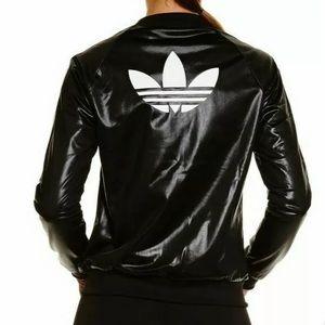Adidas SUPERSTAR TRACK JACKET IN WET-LOOK